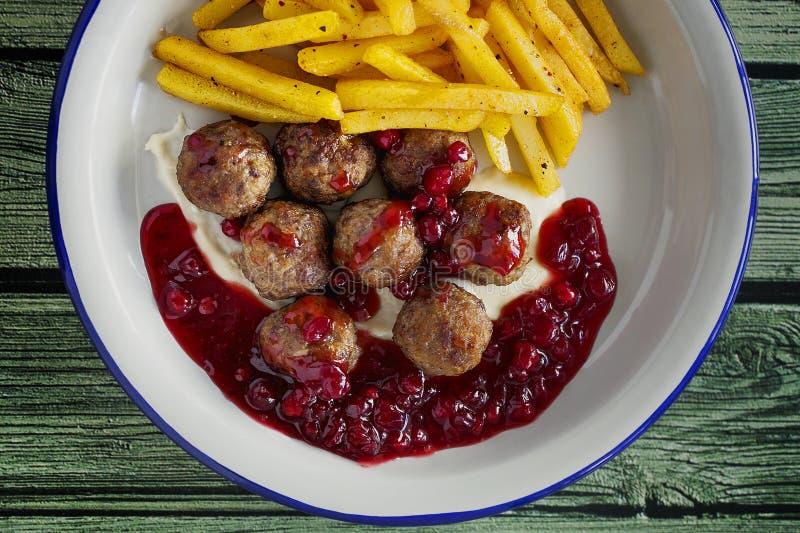 κεφτή σουηδικά κλείστε επάνω τρόφιμα υγιή στοκ εικόνα