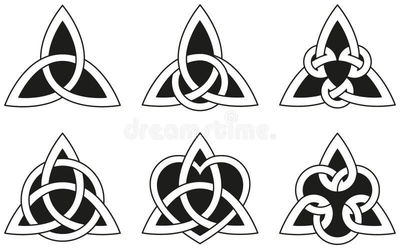 Κελτικοί κόμβοι τριγώνων διανυσματική απεικόνιση