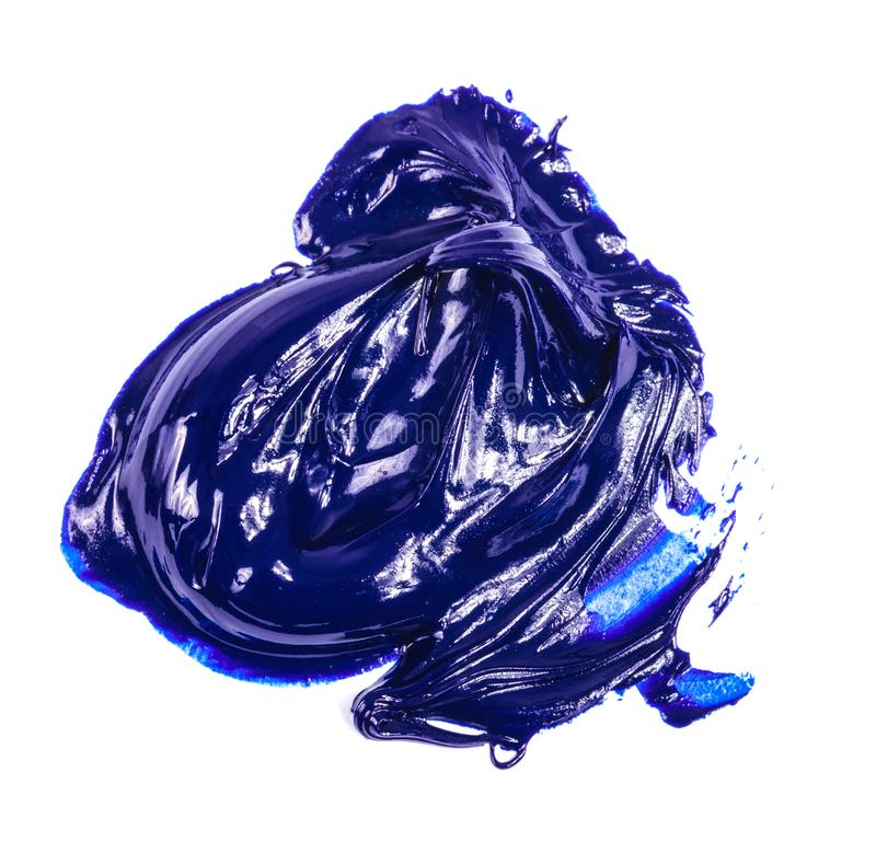 Κηλίδα του μπλε ελαιοχρώματος σε ένα λευκό στοκ φωτογραφία με δικαίωμα ελεύθερης χρήσης