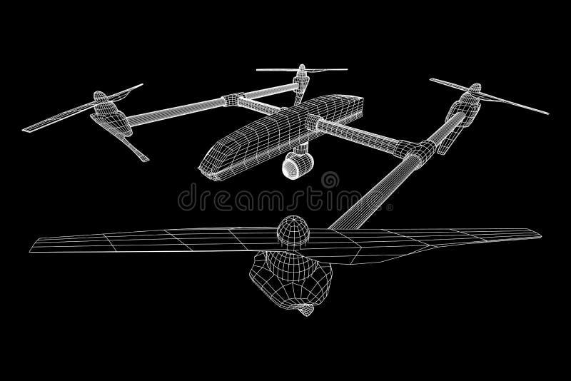 Κηφήνας αέρα τηλεχειρισμού διανυσματική απεικόνιση