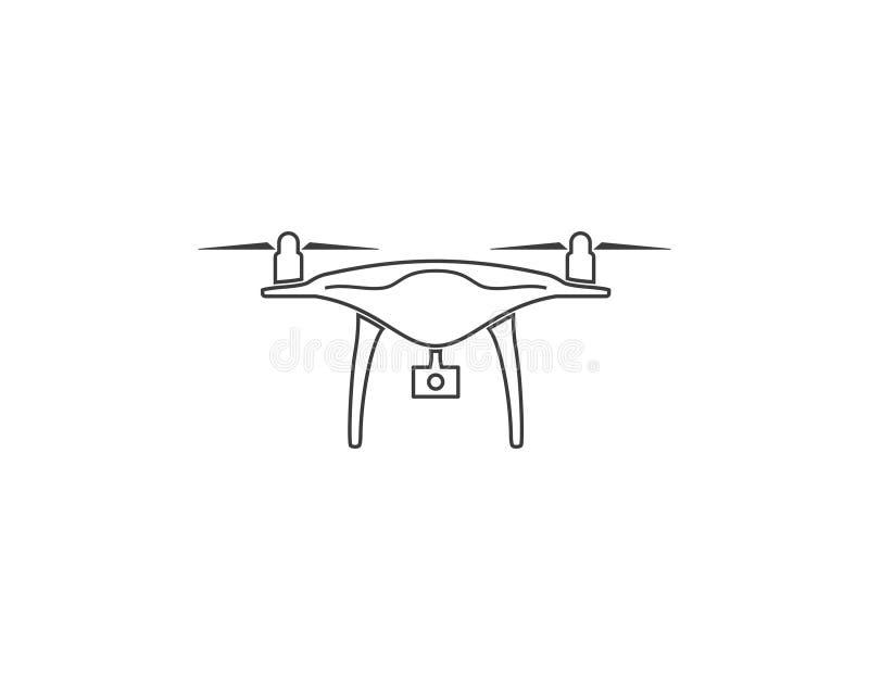 Κηφήνας, quadcopter εικονίδιο Διανυσματική απεικόνιση, επίπεδο σχέδιο ελεύθερη απεικόνιση δικαιώματος