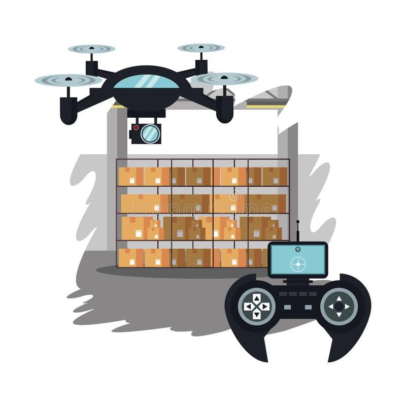 Κηφήνες στα κινούμενα σχέδια αποθηκών εμπορευμάτων απεικόνιση αποθεμάτων