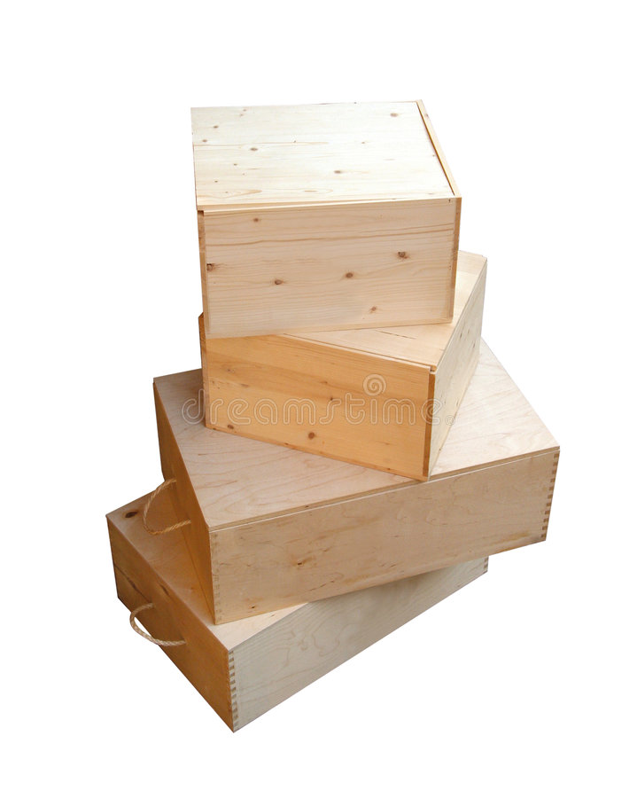 κιβώτια ξύλινα στοκ φωτογραφία