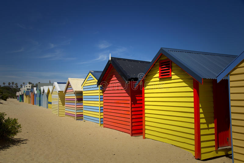 Κιβώτια στο Μπράιτον, Αυστραλία στοκ φωτογραφία με δικαίωμα ελεύθερης χρήσης