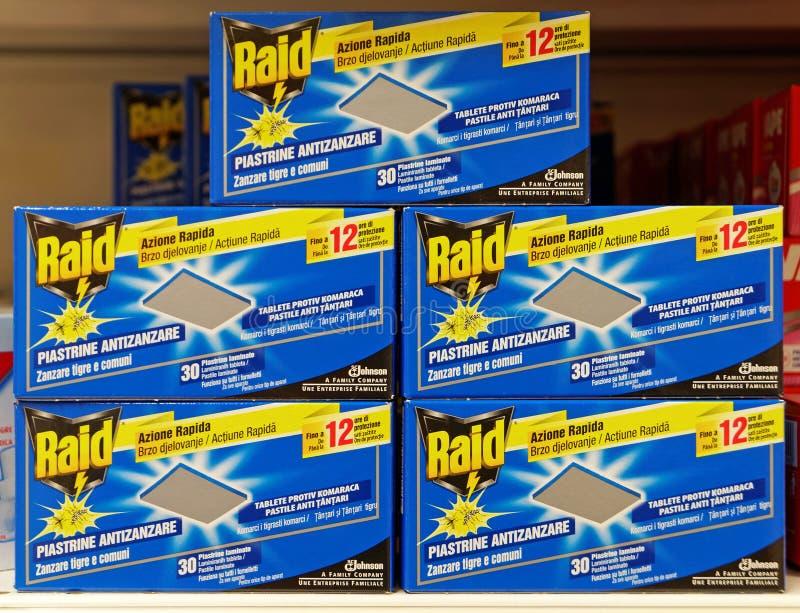 Κιβώτια των ταμπλετών αντι-κουνουπιών επιδρομής στοκ εικόνα με δικαίωμα ελεύθερης χρήσης