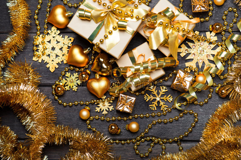 Κιβώτια δώρων Χριστουγέννων στοκ εικόνες με δικαίωμα ελεύθερης χρήσης