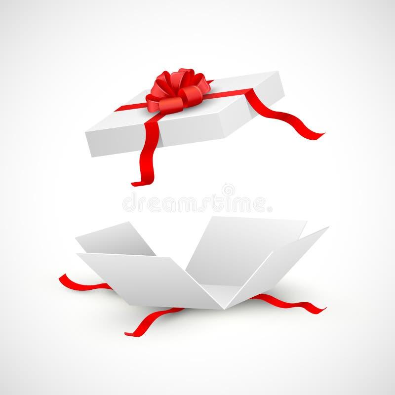 Κιβώτιο αιφνιδιαστικών δώρων διανυσματική απεικόνιση