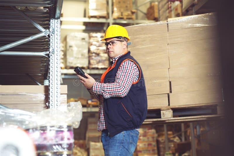 Κιβώτιο ανίχνευσης εργαζομένων αποθηκών εμπορευμάτων στοκ φωτογραφία με δικαίωμα ελεύθερης χρήσης