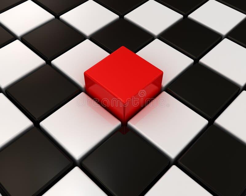 κιβώτιο διαφορετικό άλλοι κόκκινοι απεικόνιση αποθεμάτων