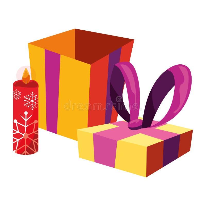 Κιβώτιο δώρων Χριστουγέννων ελεύθερη απεικόνιση δικαιώματος