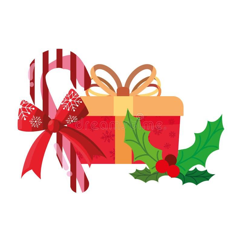 Κιβώτιο δώρων Χριστουγέννων απεικόνιση αποθεμάτων