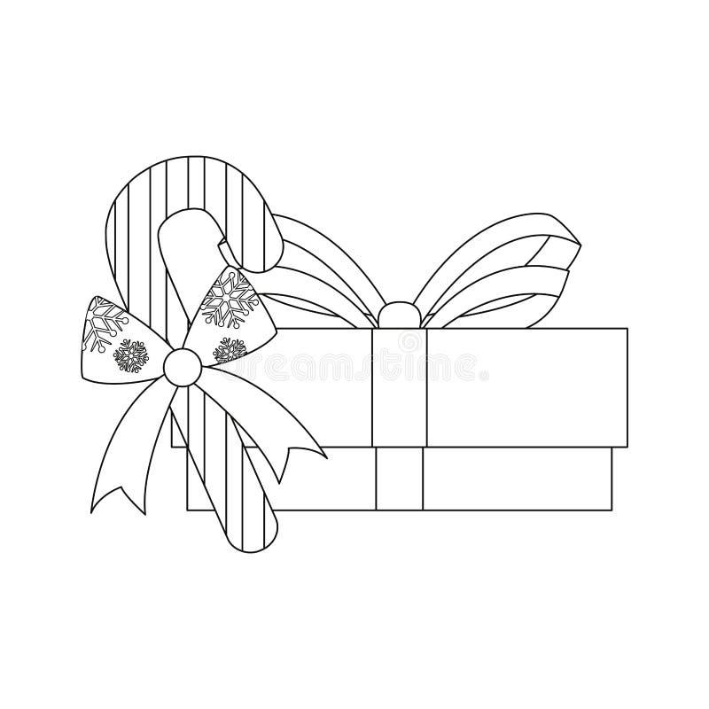Κιβώτιο δώρων Χριστουγέννων διανυσματική απεικόνιση