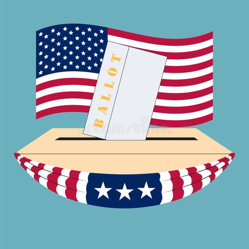 Κιβώτιο εκλογής των Ηνωμένων Πολιτειών της Αμερικής διανυσματική απεικόνιση