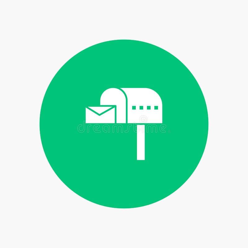 Κιβώτιο επιστολών, ηλεκτρονικό ταχυδρομείο, ταχυδρομική θυρίδα, κιβώτιο διανυσματική απεικόνιση