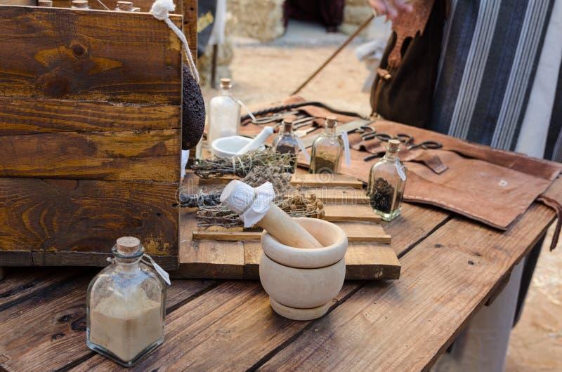 Κιβώτιο μεσαιωνικού ιατρικού στοκ εικόνα με δικαίωμα ελεύθερης χρήσης