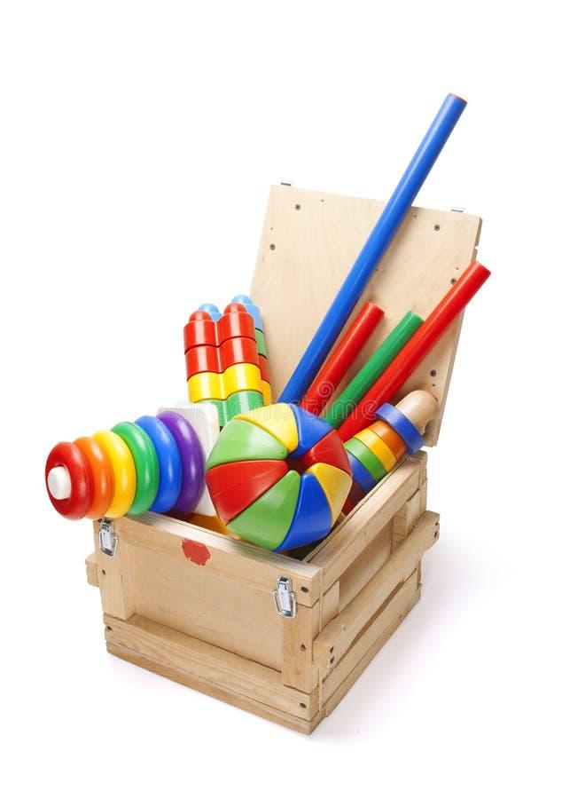 κιβώτιο πολλά παιχνίδια ξύλινα στοκ φωτογραφία με δικαίωμα ελεύθερης χρήσης
