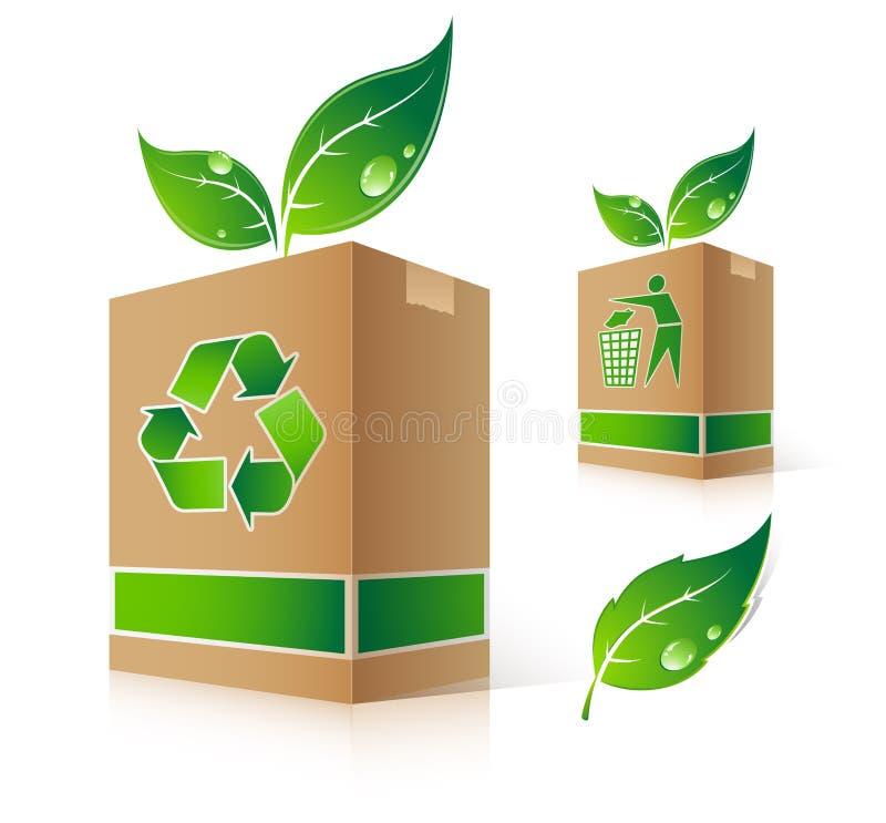 κιβώτιο πράσινο διανυσματική απεικόνιση