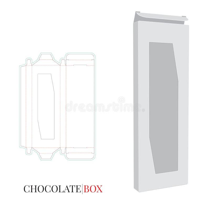 Κιβώτιο σοκολάτας, κιβώτιο σοκολάτας εγγράφου, σχέδιο συσκευασίας ελεύθερη απεικόνιση δικαιώματος