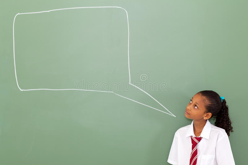 Κιβώτιο συνομιλίας μαθητριών στοκ εικόνα