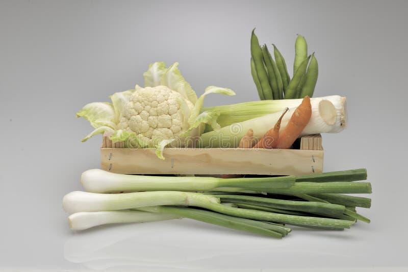 Κιβώτιο των μικτών λαχανικών στοκ φωτογραφία