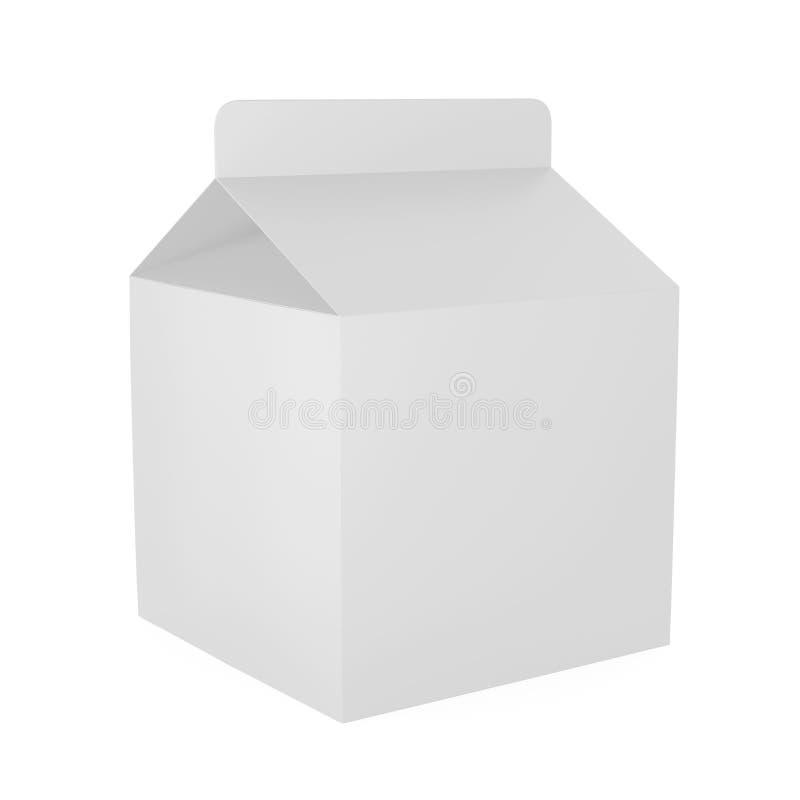Κιβώτιο χαρτοκιβωτίων γάλακτος που απομονώνεται απεικόνιση αποθεμάτων