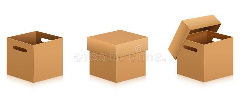 Κιβώτιο χαρτοκιβωτίων Παράδοση και συσκευασία απεικόνιση αποθεμάτων