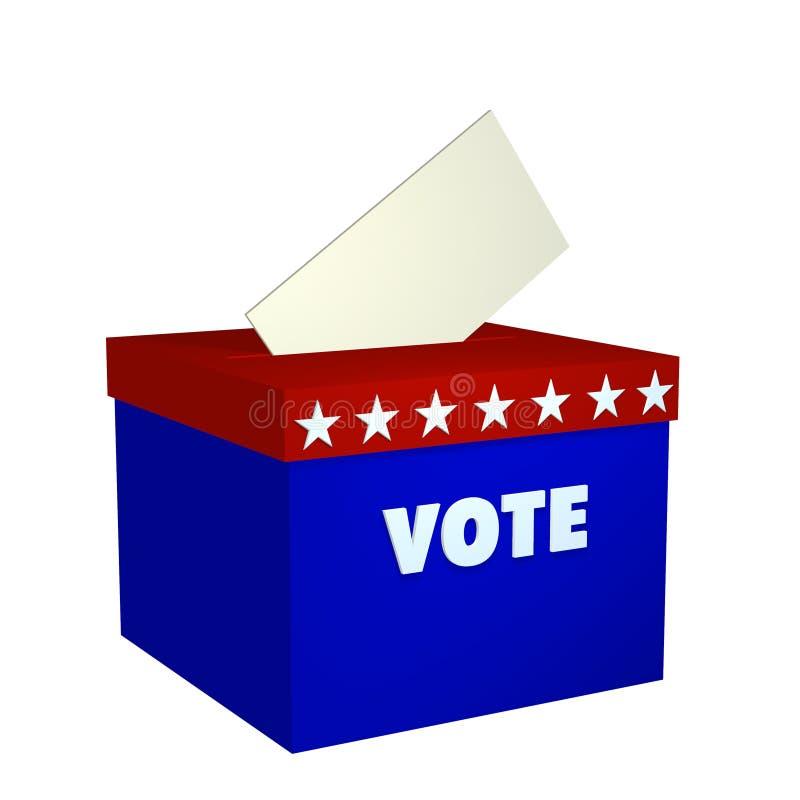 κιβώτιο ψήφου διανυσματική απεικόνιση