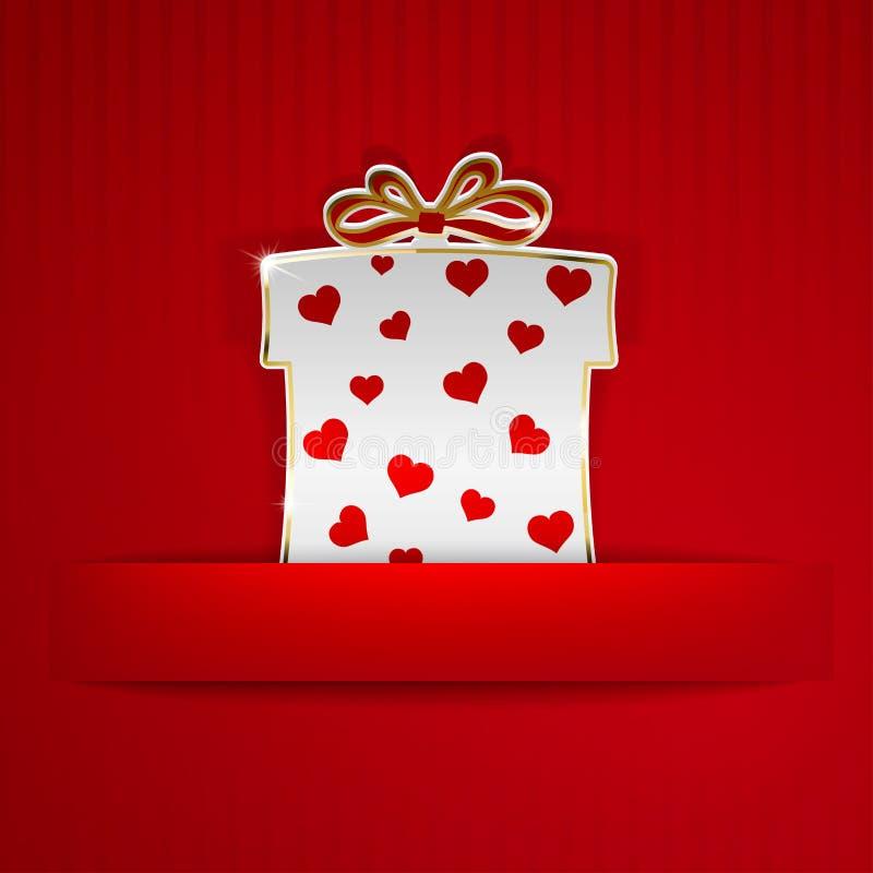 Κιβώτιο δώρων που αποκόπτει του εγγράφου απεικόνιση αποθεμάτων