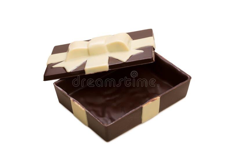 Κιβώτιο δώρων φιαγμένο από νόστιμη μικτή σοκολάτα στοκ φωτογραφίες