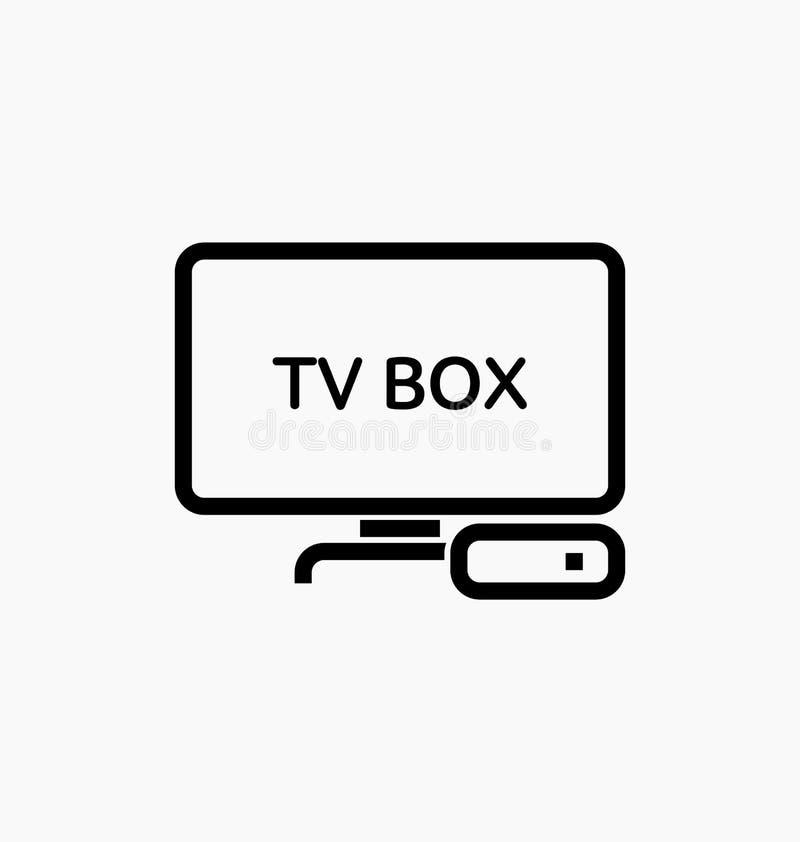 Κιβώτιο TV/εικονίδιο IPTV ελεύθερη απεικόνιση δικαιώματος