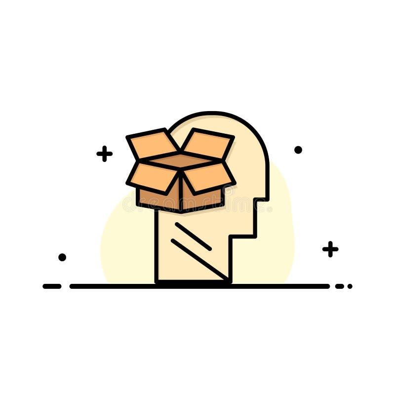 Κιβώτιο, Unbox, στοιχεία, χρήστης, αρσενικό πρότυπο επιχειρησιακών λογότυπων Επίπεδο χρώμα απεικόνιση αποθεμάτων