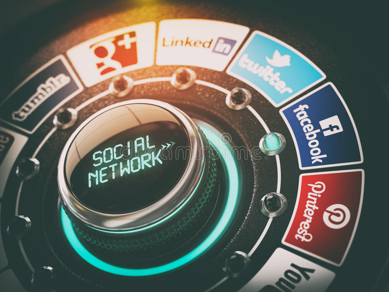 ΚΙΕΒΟ, ΟΥΚΡΑΝΙΑ - 16 ΝΟΕΜΒΡΊΟΥ 2016: Κοινωνική έννοια δικτύων διανυσματική απεικόνιση