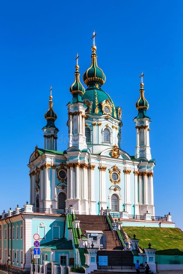 ΚΙΕΒΟ, UNKRAINE - 8 ΙΟΥΝΊΟΥ 2012: Εκκλησία του ST Andrew ` s στην κάθοδο του Andrew στο Κίεβο στοκ φωτογραφία με δικαίωμα ελεύθερης χρήσης