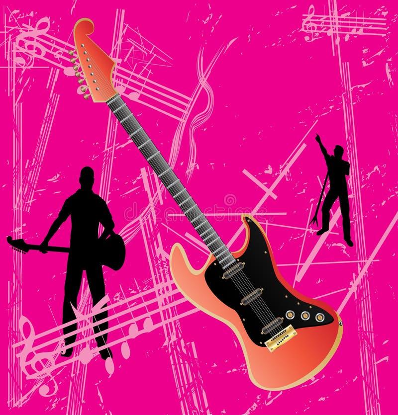 κιθάρα ανασκόπησης grunge διανυσματική απεικόνιση