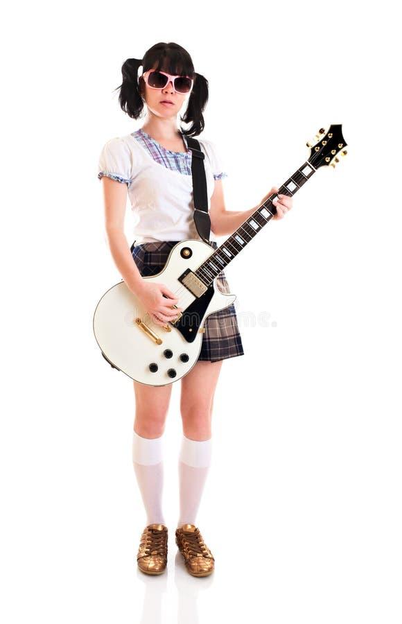 κιθάρα κοριτσιών στοκ φωτογραφία