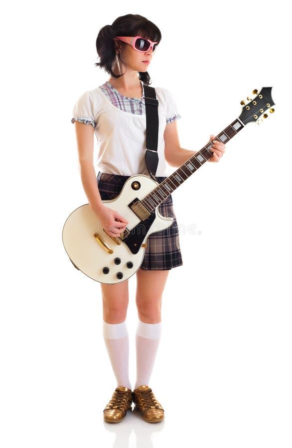 κιθάρα κοριτσιών στοκ φωτογραφίες με δικαίωμα ελεύθερης χρήσης