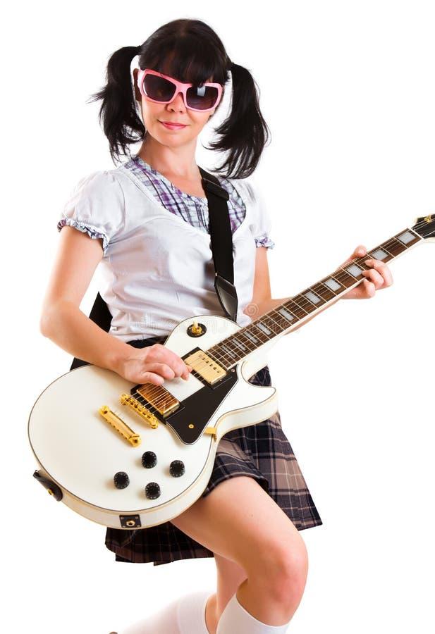κιθάρα κοριτσιών στοκ εικόνες