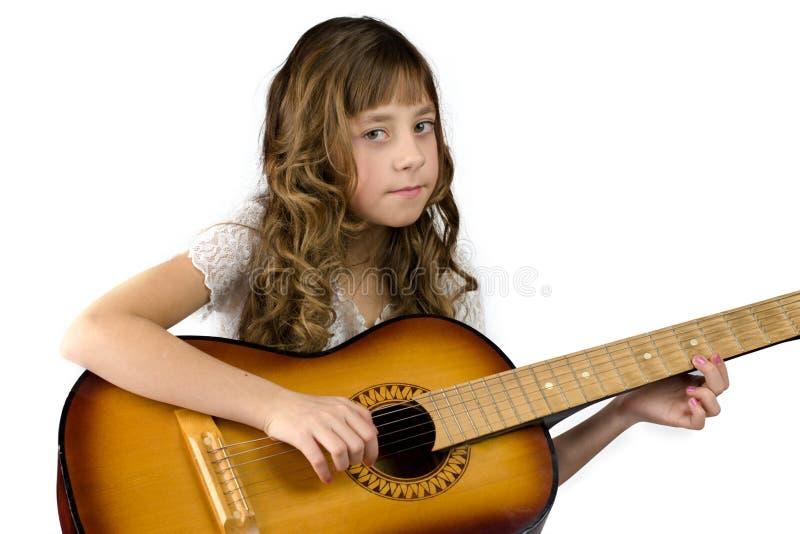 κιθάρα κοριτσιών στοκ εικόνα με δικαίωμα ελεύθερης χρήσης