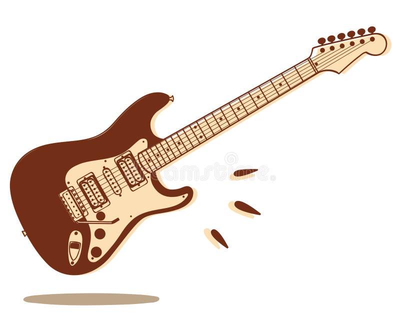 κιθάρα που απομονώνεται ηλεκτρική διανυσματική απεικόνιση