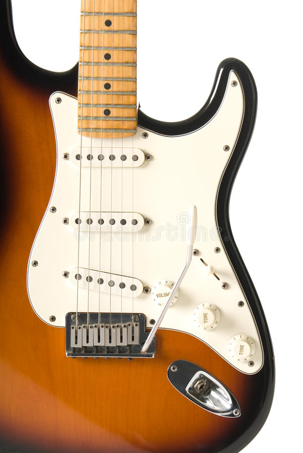 κιθάρα σωμάτων που απομον στοκ φωτογραφίες με δικαίωμα ελεύθερης χρήσης