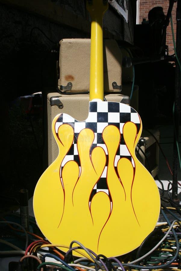κιθάρα rockabilly στοκ φωτογραφίες με δικαίωμα ελεύθερης χρήσης