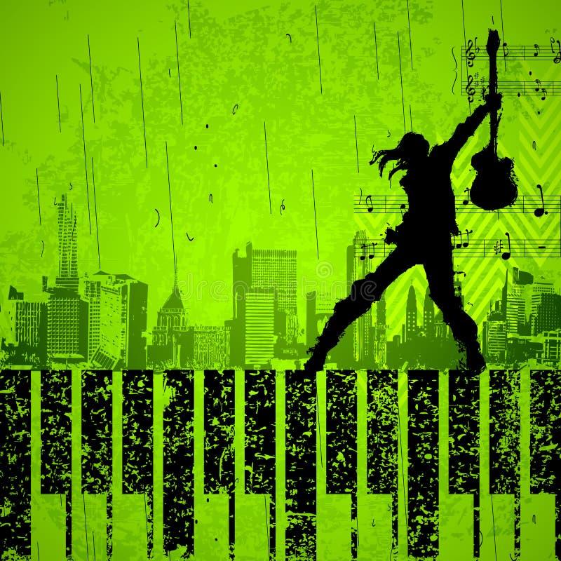 κιθάρα rockstar ελεύθερη απεικόνιση δικαιώματος