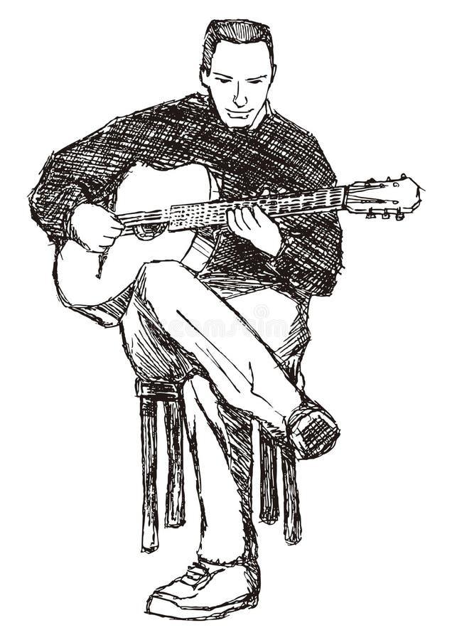 κιθαρίστας απεικόνιση αποθεμάτων