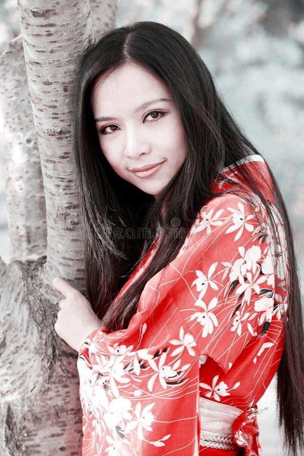 κιμονό κοριτσιών στοκ εικόνα με δικαίωμα ελεύθερης χρήσης