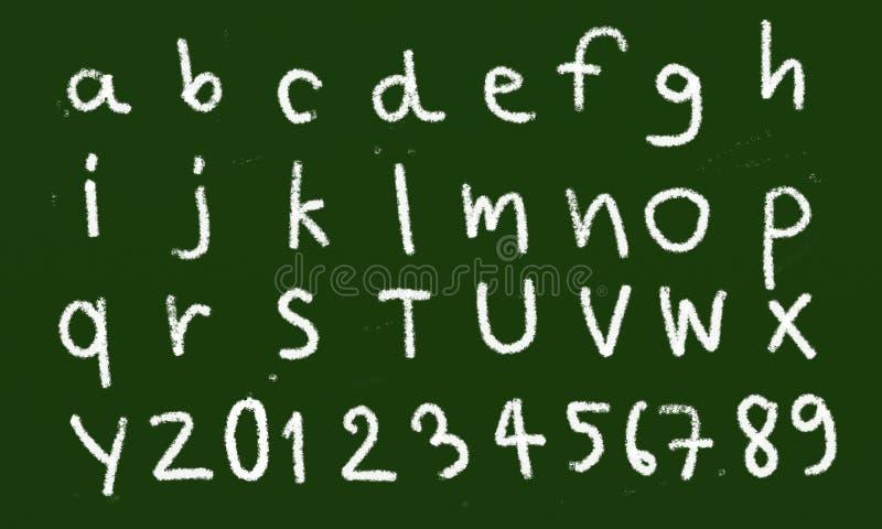Κιμωλία αλφάβητου στοκ φωτογραφία με δικαίωμα ελεύθερης χρήσης