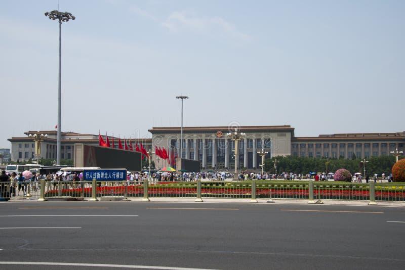 Κινέζικα, Ασία, Πεκίνο, η μεγάλη αίθουσα των ανθρώπων στοκ εικόνες