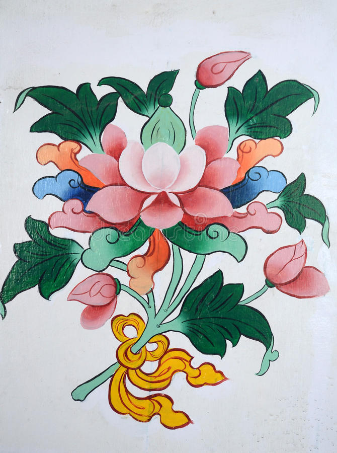 Κινεζικά έργα ζωγραφικής τέχνης στοκ εικόνα με δικαίωμα ελεύθερης χρήσης
