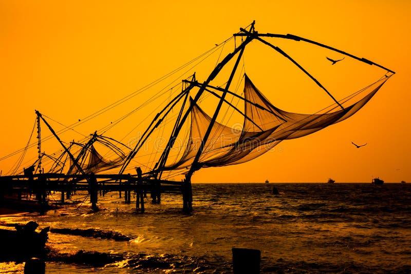 Κινεζικά δίχτυα ψαρέματος στοκ φωτογραφία με δικαίωμα ελεύθερης χρήσης