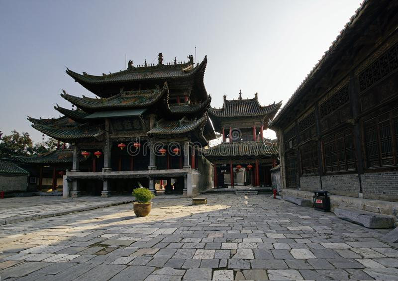 Κινεζικά αρχαία κτήρια σε Henan, Κίνα στοκ φωτογραφία