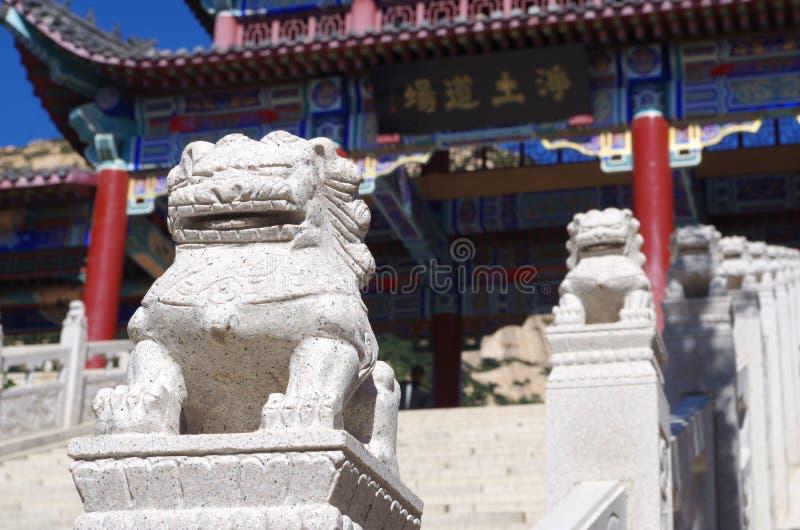 Κινεζικά λιοντάρια φυλάκων στοκ εικόνα με δικαίωμα ελεύθερης χρήσης